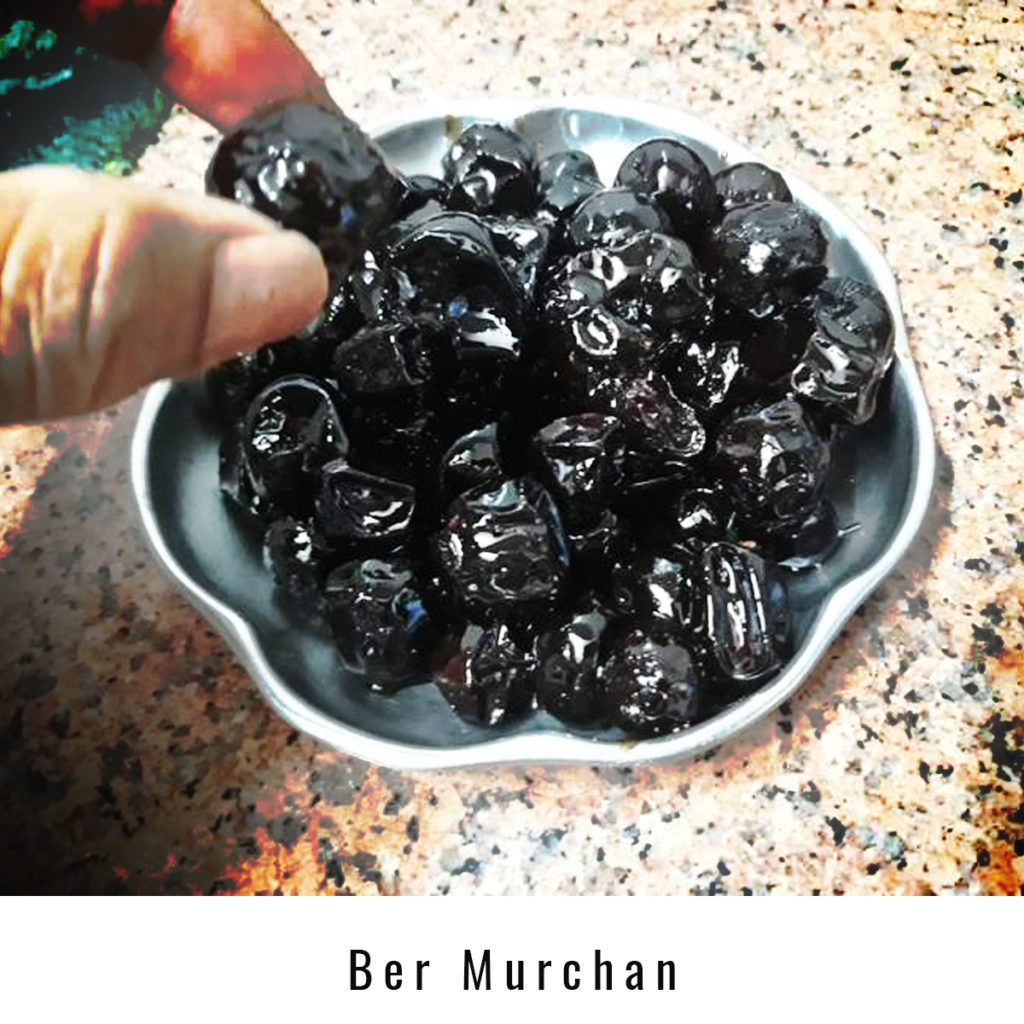 Ber Murchan, a local delicacy made by villagers.
